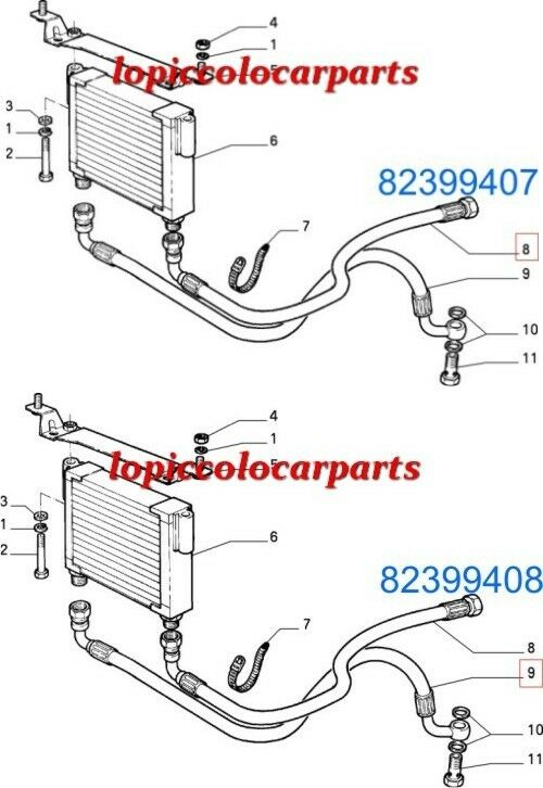CP 86/92 Tubi Raffred Olio Cambio Automatico Delta 86/92 CP 82399407 + 82399408 Originale 50e51f