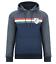 LAMBRETTA Felpa con cappuccio Track Top INNOCENTI ITALIA BLU NAVY SWEAT con cappuccio CM9201 S L XL