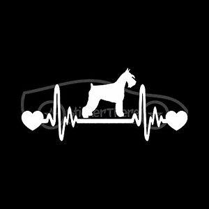 SCHNAUZER-HEARTBEAT-Sticker-Live-Love-Heart-Decal-Dog-Breed-Adopt-Snouter-Snout