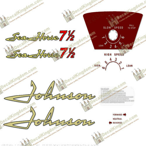 Johnson 1958 Vintage Outboard Engine Decal Multiple Styles 3M Marine Grade
