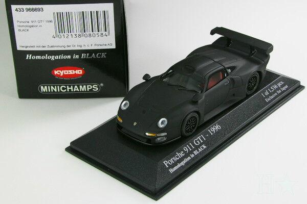 MINICHAMPS KYOSHO 1 43 PORSCHE 911 GT1 1996 Homologation Noir PMA Limited