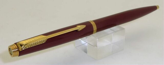 PARKER 75 LAQUE BROWN & GOLD BALLPOINT IN BOX  CAP ACTIVATED IN ORIGINAL BOX
