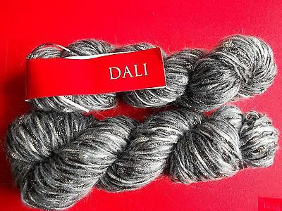 Feza Yarns Dali wool/mohair/nylon luxury yarn, Grey, lot of 2 (140 yds ea)