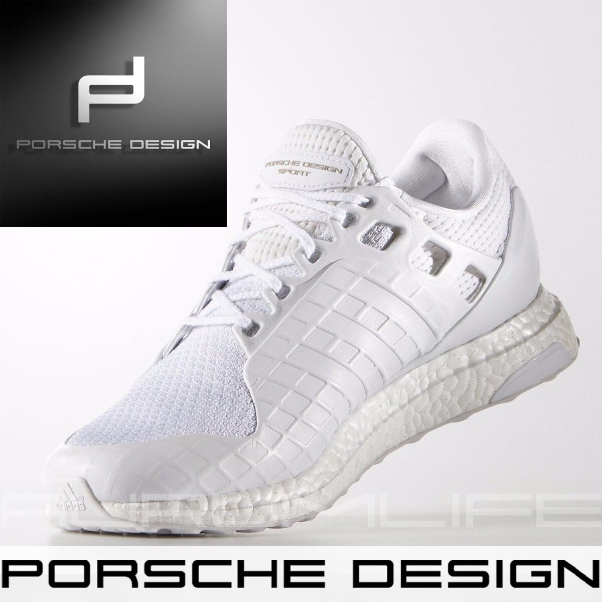Adidas Porsche Diseño Zapatos Ultra Boost para hombre Sport blanco Talla BB0682 Nuevo