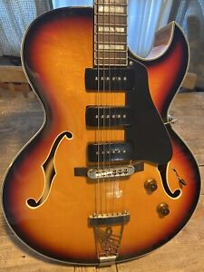 Dean Palomino Hollow Body Sunburst W Non Original Hard Case Ebay