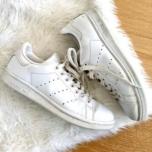 Details about Adidas Stan Smith All White Leather Sneakers Men 7.5/ Women 7.5