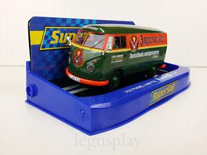 Slot-Car-Scalextric-Superslot-H3938-Volkswagen-Panel-Van-T1b-Green-Jaegermeister
