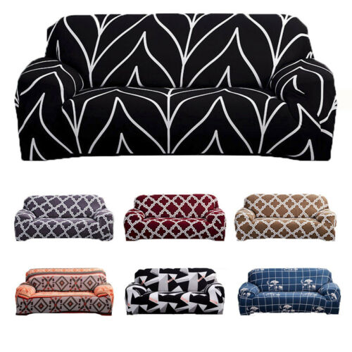 1//2//3//4 Seater Elastic Sofa Cover Slipcover Set Couch Stretch Arm Chair Loveseat