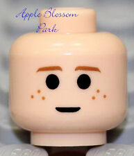 Female Girl Kid Freckles Smile /& Brown Eyebrow Hair NEW Lego Child MINIFIG HEAD