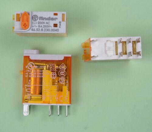 Print Relais 230V AC 2xUM 8A 46.52.8.230.0040 4C Finder Steck