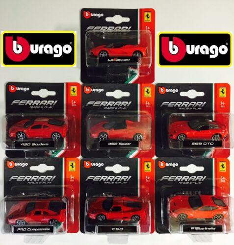 nuovo Italia AUTO FERRARI BURAGO SCALA 1:64  7 auto differenti  codice 560004