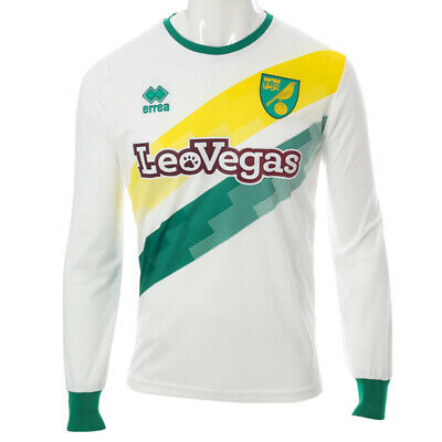 ADULT OFFICIAL NORWICH CITY FC REPLICA 2018-19 LONG SLEEVE HOME SHIRT