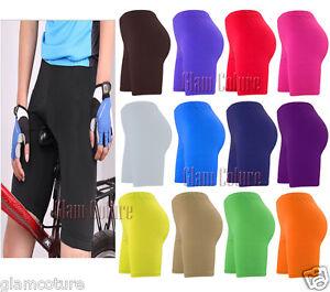 De Mujer Pantalones Cortos Ciclista Bailar Calzones Leggings De Lycra Active Ebay