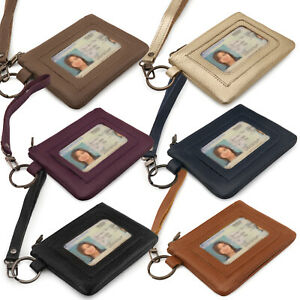 Otto Angelino Genuine Leather Zippered ID Wallet with Wrist Strap - Unisex