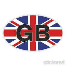 Gb Oval Union Jack Insignia parachoques del coche / Ventana Vinilo calcomanía / etiqueta 150 mm X 90mm