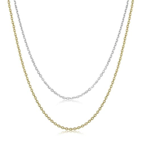 """925 Sterling Silver 1.3mm Italian Rolo Cable Chain Necklace 14/"""" 16/"""" 18/"""" 20/"""" 22/"""""""