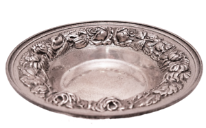 Sterling Repousse Candy  Nut Dish by Stieff