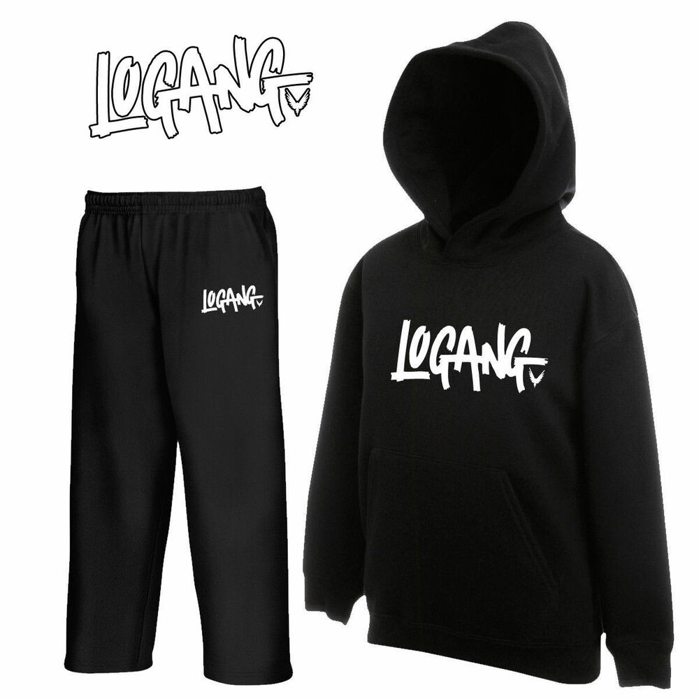 Kids Logang Logan Jake Paul Youtuber Hoodie Hoody And Joggers Set Tracksuit New