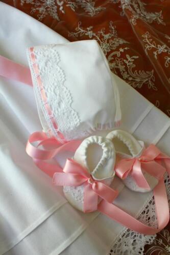 100/% algodón talla 56-86 Baby * jóvenes chicas * Taufkleid 4-tlg. Swarovski