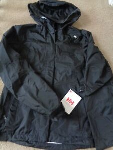 Light Helly Coat Womens M Hooded New Tags Jacket Hansen W Achorage Size rAqrft