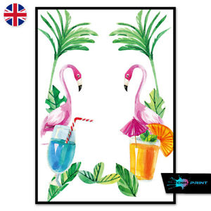 Floral Watercolour Butterfly Print A4 A3 Wall Art Decor Animals Fashion 1420