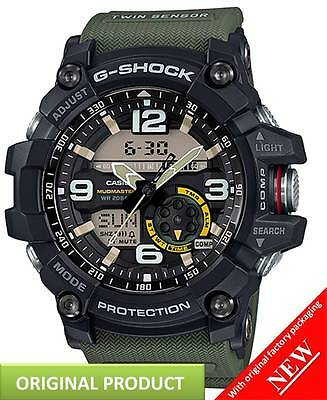 GG1000-1A3 Casio G-Shock Mudmaster Twin Sensor Thermometer Analog Digital Watch