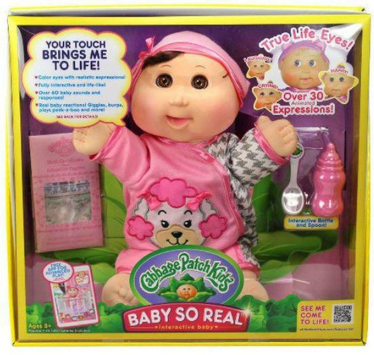 Cabbage Patch Kids Baby so Real Interactive Doll Brunette Charity Jo Dec 19  for sale online | eBay