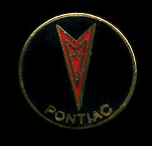 Vtg Enamel Pin Pontiac hat lapel hot rod drag race classic car shield logo