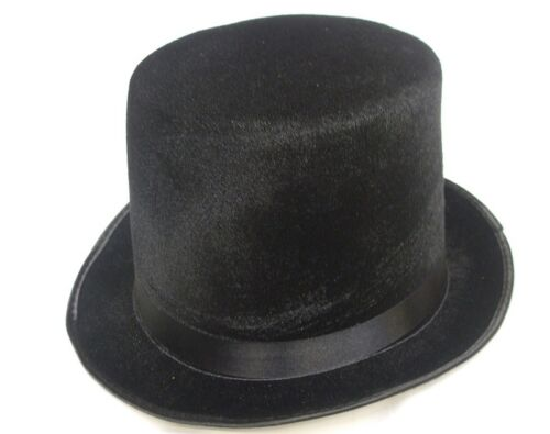 """Adult Lincoln Top Hat Indestructible 6/"""" 15cm High Topper Mens Gents Topper New"""