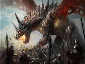 Art Print Poster Painting Drawing Fantasy Monster Dragon