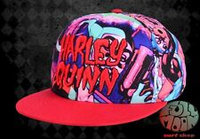 New DC Comics Harley Quinn Batman Mens 3D Name Snapback Cap Hat
