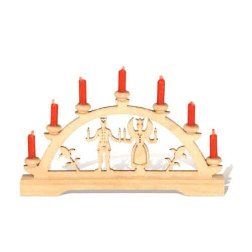 "Rauta 17071 Mini Schwibbogen /""Angel Bergmann/"" with Red Candles Dolls House NEW #"