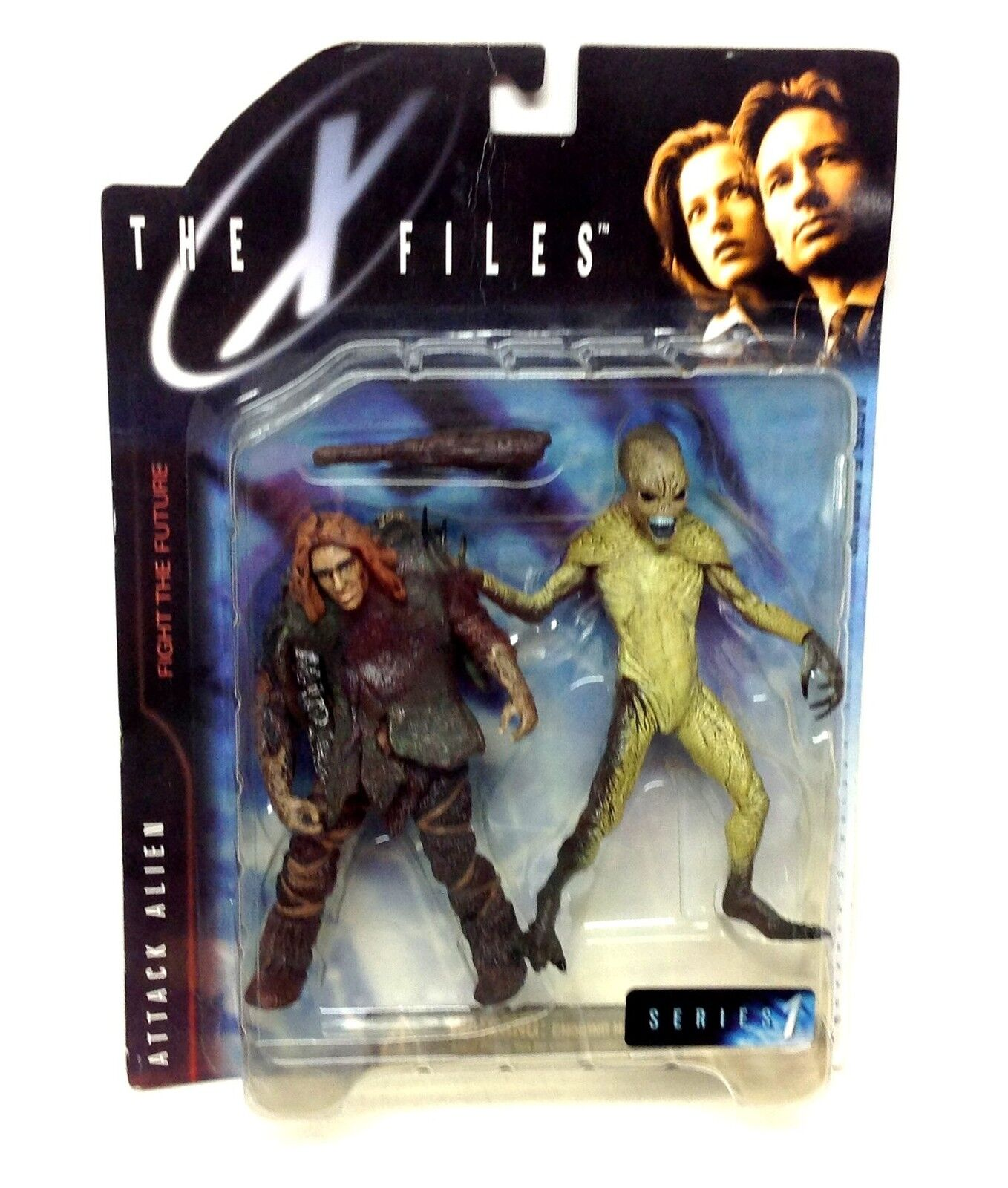 McFarlane Toys X FILES  ALIEN & CAVEMAN  tv movie figures set GREAT FIGURES
