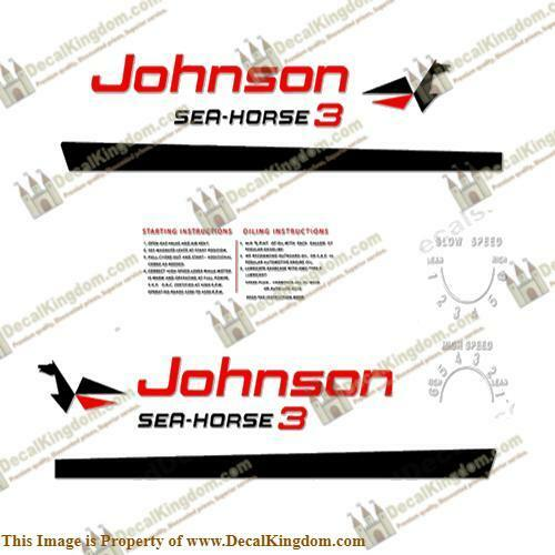 Johnson 1960 Outboard Decal Kit (Multiple Größes Available) 3M Marine Grade