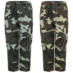 Kids-multipocket-camouflage-pantalon-garcons-armee-imprimer-cargo-combat-pantalon-4-14-ans
