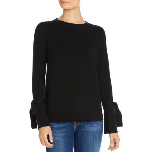 Private Label Womens Black Cashmere Pullover Crewneck Sweater Top M BHFO 1122