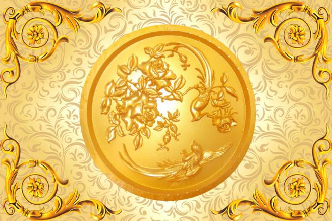 3D Golden Phoenix Phoenix Phoenix 89 Ceiling WallPaper Murals Wall Print Decal Deco AJ WALLPAPER 9be778