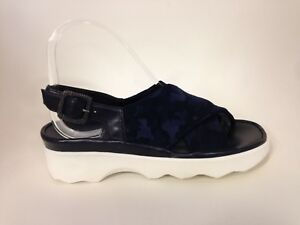 uk availability e5c44 ba3d0 Details about Thierry Rabotin Willis Domino Navy Comfort Sandal Women's  Sizes 36-42/6-12/NEW!