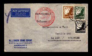 Germany May 20 1937 Flight Cover to Bolivia (I) - L17500