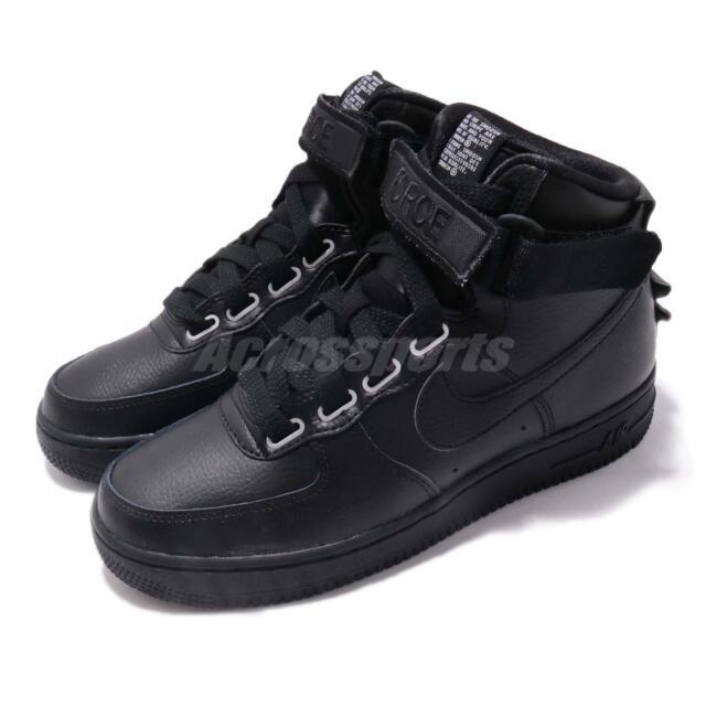 Nike Wmns AF1 Hi UT Air Force 1 Utility Black Womens Shoes Sneakers AJ7311 001