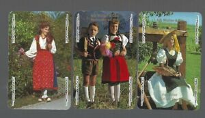PLAYING SWAP CARDS 2 SINGLE  VINT  GENUINE U.S REGENCY LADY /& TWO YOUNG BOYS 701