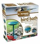 Kingfisher BBATH 63cm Tall 40cm Diameter Traditional Resin Garden Bird Bath