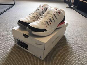 25fa8d60ff2e9 Nike Court Zoom Vapor 9.5 RF x AJ3 Fire Red Federer Air Jordan 3 UK ...
