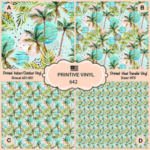 photograph relating to Printable 651 Vinyl named Information with regards to Watercolor Palm Tree Leaf Released Siser HTV, Oracal 651 Craft Vinyl- 642