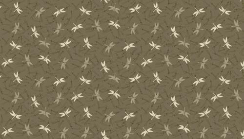 Makower Japanese Garden Dragonfly 100/% cotton Fabric Patchwork Quilting /& Craft