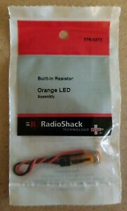 NEW-RadioShack-Orange-LED-Assembly-w-Built-In-Resistor-2760272-FREE-SHIPPING