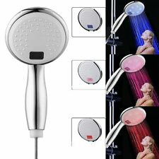 3 Color Led Shower Head Temperature Digital Display Water Powered Shower Head JK