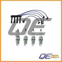 Set Of 4 Ngk G-power Platinum Spark Plugs & Ngk High Performance Wire Set