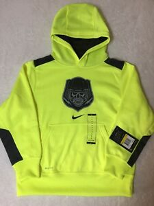 wholesale dealer b8a8c 9f176 Details about BOYS SZ S NIKE DRY NEON YELLOW Training Pullover Hoodie  Sweatshirt Top