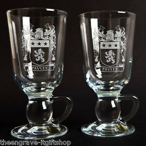 Family-Coat-of-Arms-Irish-Coffee-Glasses-Heraldic-Crest-Wedding-Anniversary
